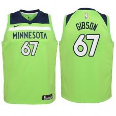 Youth 2017-18 Season Taj Gibson Minnesota Timberwolves #67 Statement Green Swingman Jersey
