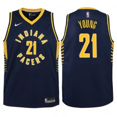 Youth 2017-18 Season Thaddeus Young Indiana Pacers #21 Icon Navy Swingman Jersey