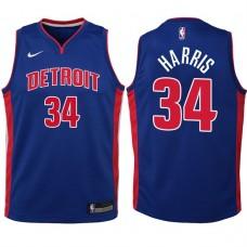 Youth 2017-18 Season Tobias Harris Detroit Pistons #34 Icon Blue Swingman Jersey