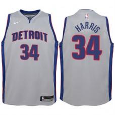 Youth 2017-18 Season Tobias Harris Detroit Pistons #34 Statement Gray Swingman Jersey