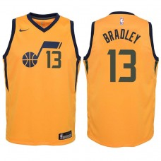 Youth 2017-18 Season Tony Bradley Utah Jazz #13 Statement Yellow Swingman Jersey