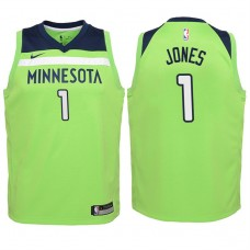 Youth 2017-18 Season Tyus Jones Minnesota Timberwolves #1 Statement Green Swingman Jersey