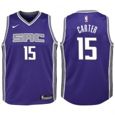 Youth 2017-18 Season Vince Carter Sacramento Kings #15 Icon Purple Swingman Jersey