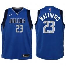 Youth 2017-18 Season Wesley Matthews Dallas Mavericks #23 Icon Blue Swingman Jersey