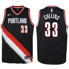 Youth 2017-18 Season Zach Collins Portland Trail Blazers #33 Icon Black Swingman Jersey