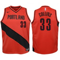 Youth 2017-18 Season Zach Collins Portland Trail Blazers #33 Statement Red Swingman Jersey