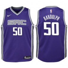 Youth 2017-18 Season Zach Randolph Sacramento Kings #50 Icon Purple Swingman Jersey