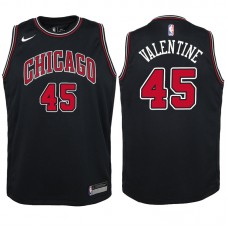 Youth 2017-18 Season Denzel Valentine Chicago Bulls #45 Statement Black Swingman Jersey