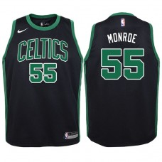 Youth 2017-18 Season Greg Monroe Boston Celtics #55 Statement Black Swingman Jersey