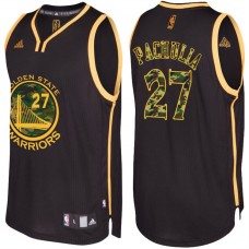 Zaza Pachulia Golden State Warriors #27 Black Camo Fashio  Swingman Jersey