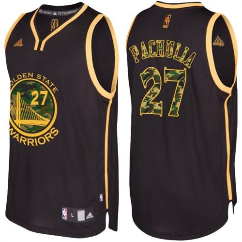 Zaza Pachulia Golden State Warriors #27 Black Camo Fashio  Swingman Jersey